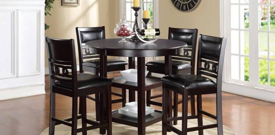 new sophisticated gia dining set. Black Bedroom Furniture Sets. Home Design Ideas
