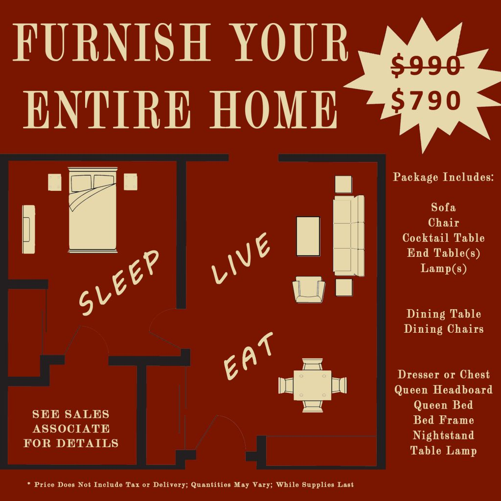 WHOLE HOME FURNITURE PACKAGE