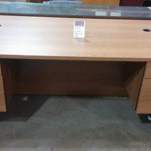 Wooden Desk with Keys