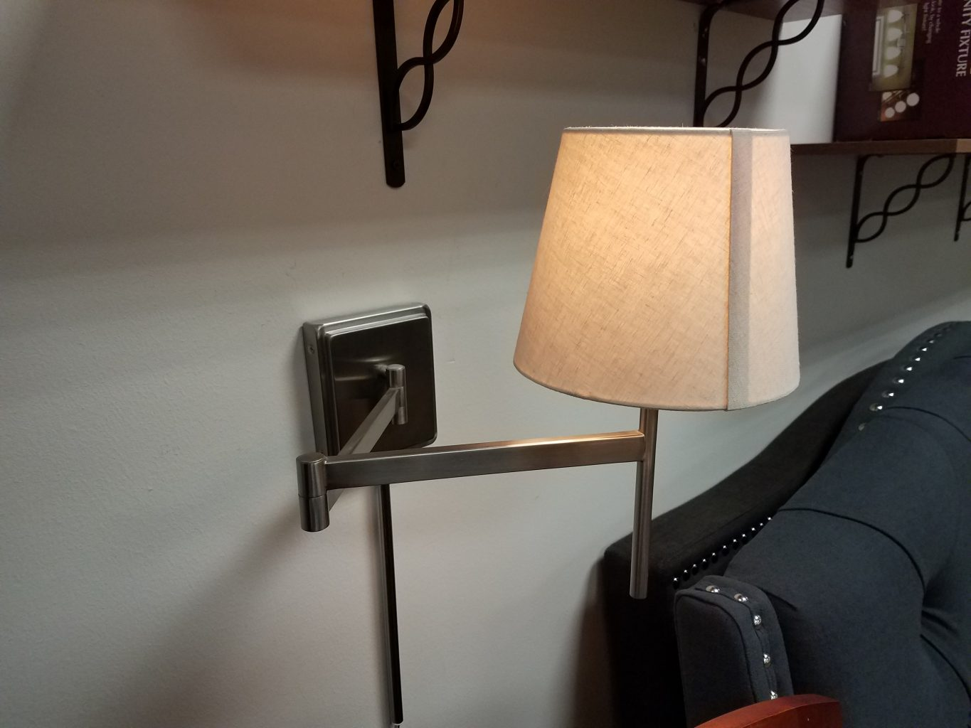 Wall Lamps For Renters : Wall Lamp with Adjustable Arm