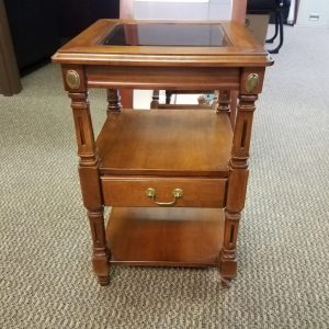 Small Glass Top End Table